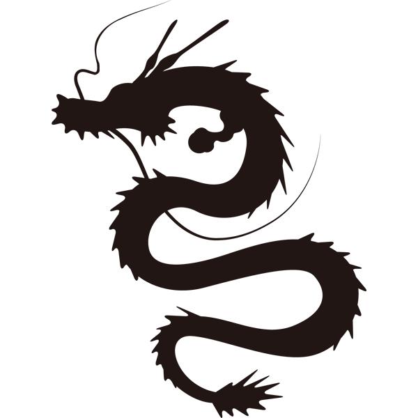 動物 干支シルエット(辰・龍)