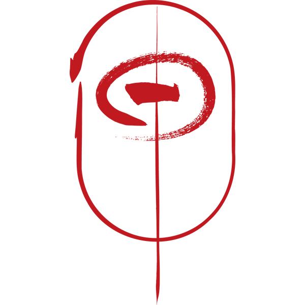 動物 干支の筆文字(申・サル)(カラー)