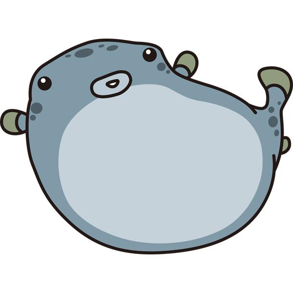 動物 魚(フグ)(カラー)