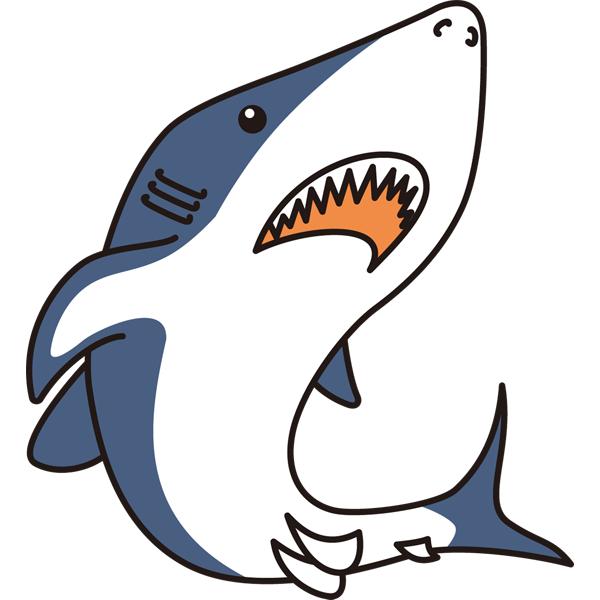 動物 サメ(カラー)