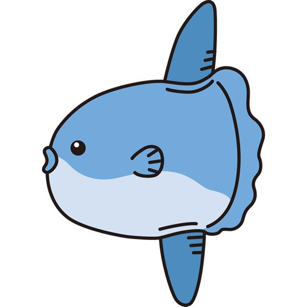 動物 魚(マンボウ)(カラー)