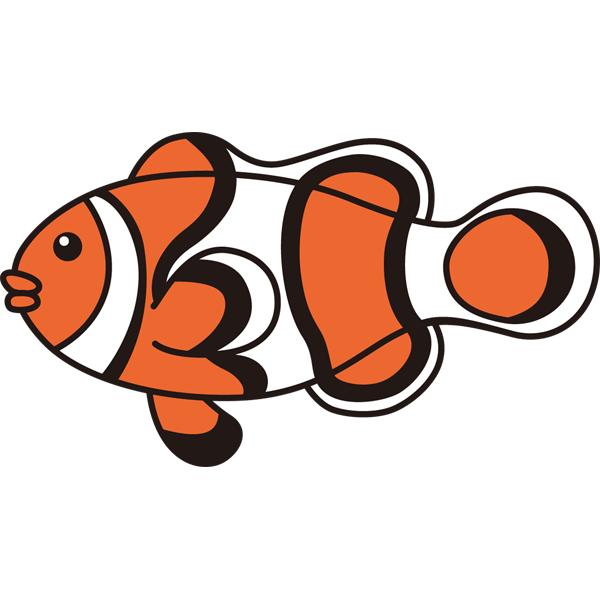 動物 魚(クマノミ)(カラー)