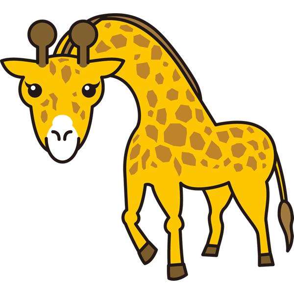 動物 キリン(カラー)