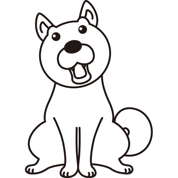 動物 犬(イヌ)(モノクロ)