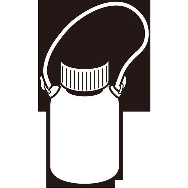水筒(モノクロ)