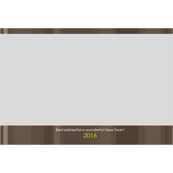 年賀状(2016・シンプル・ブラウン)