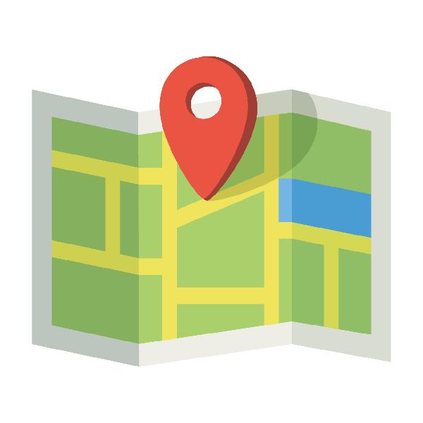 ビジネスアイコン 地図 アクセス