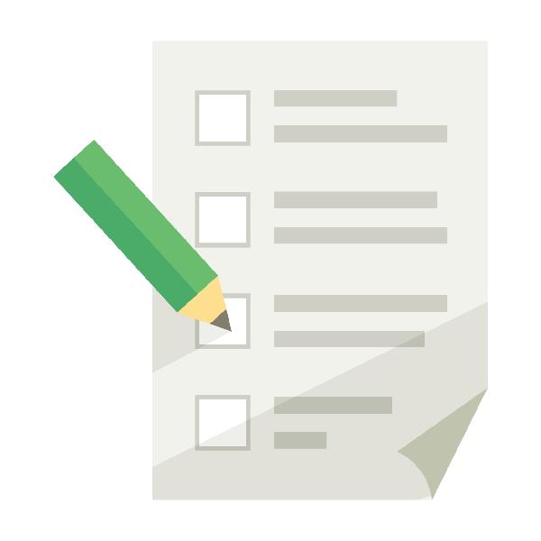 ビジネスアイコン チェックリスト 書類 記入