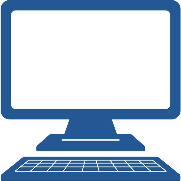 ビジネスアイコン PC(シンプル)
