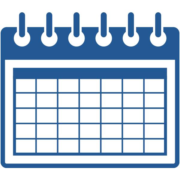 ビジネスアイコン カレンダー 予約(シンプル)