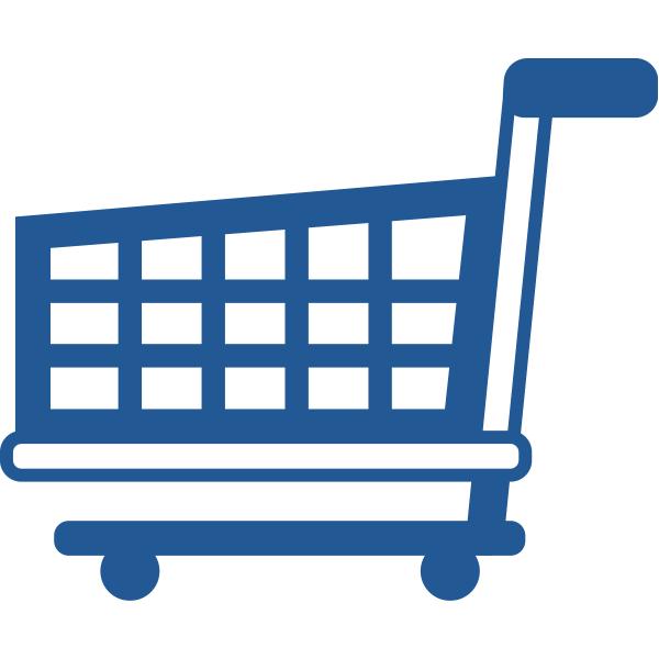 ビジネスアイコン カート 買い物(シンプル)