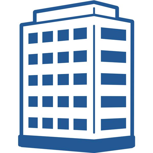 ビジネスアイコン 会社 企業 ビル(シンプル)