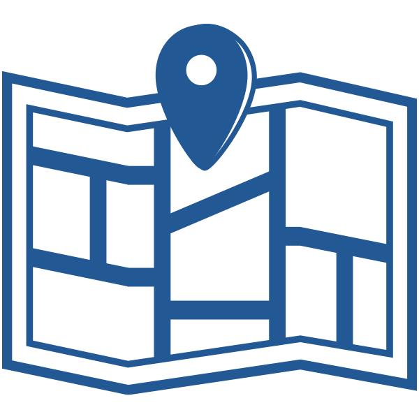 ビジネスアイコン 地図 アクセス(シンプル)