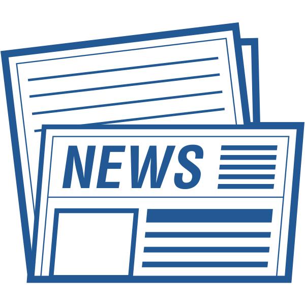 ビジネスアイコン 新聞 ニュース(シンプル)