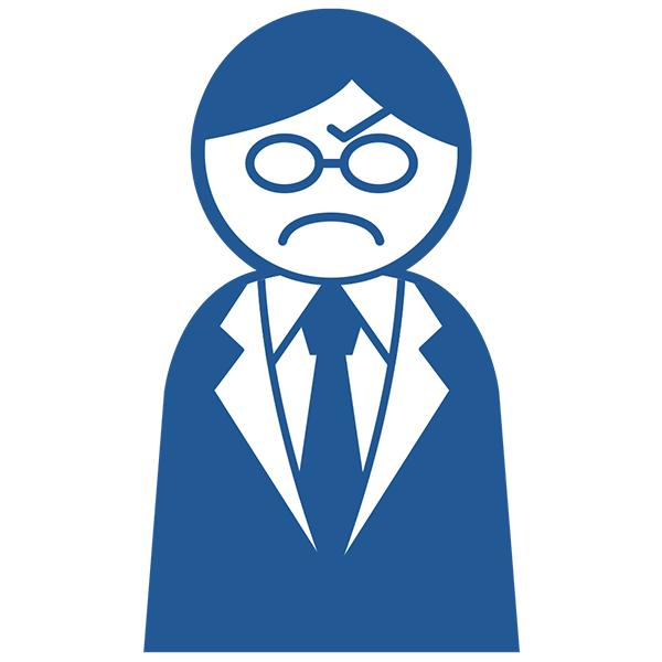 ビジネスアイコン サラリーマン 怒る