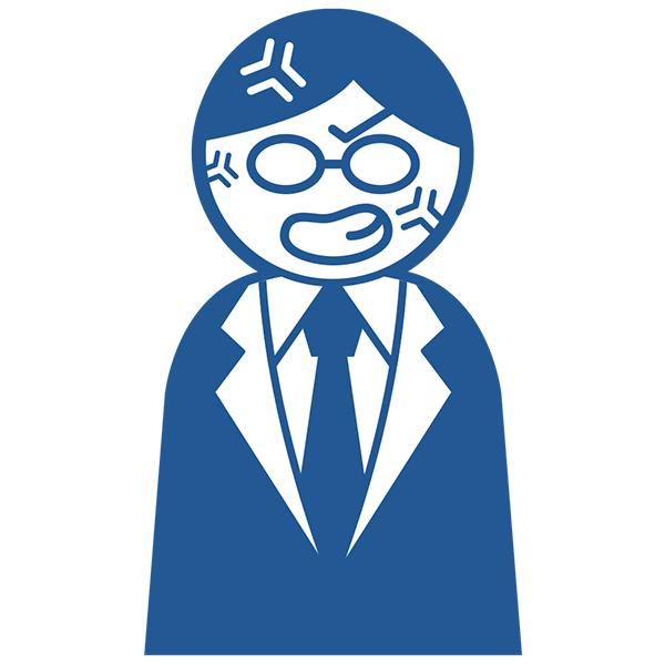 ビジネスアイコン サラリーマン ぶちギレ