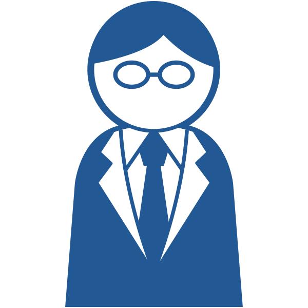 ビジネスアイコン サラリーマン スーツ(シンプル)