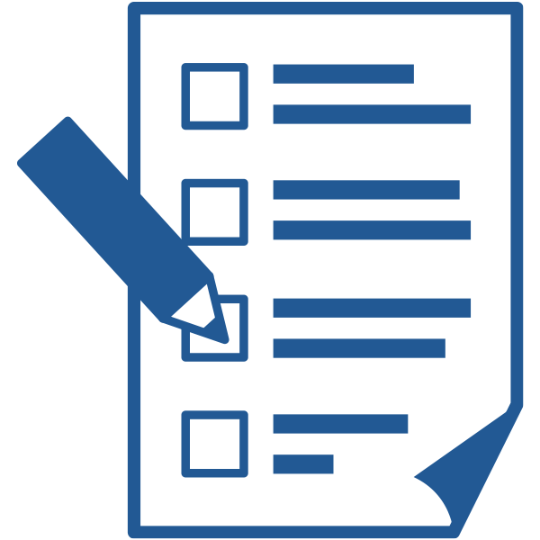 ビジネスアイコン チェックリスト 書類 記入(シンプル)