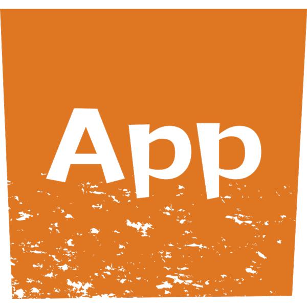 ビジネスアイコン アプリ(版画風)