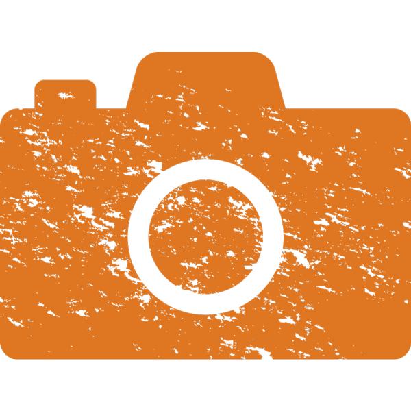 ビジネスアイコン 写真 カメラ(版画風)