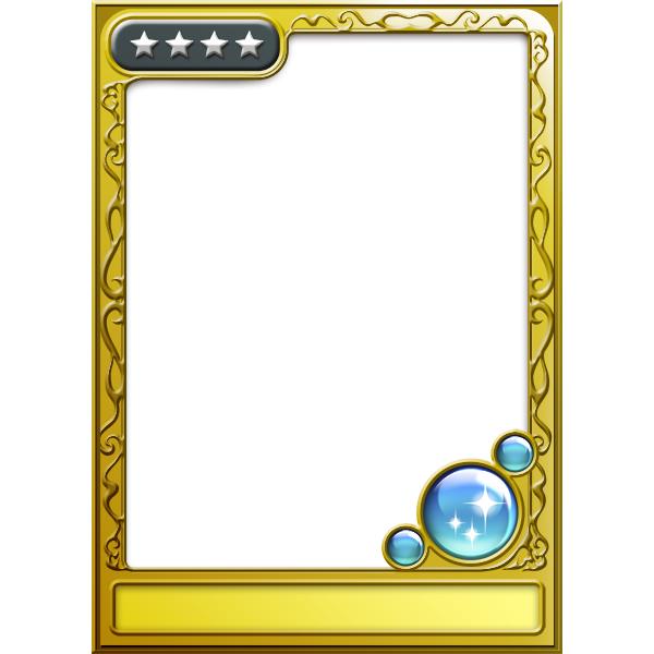 ゲームアプリのカード風フレーム