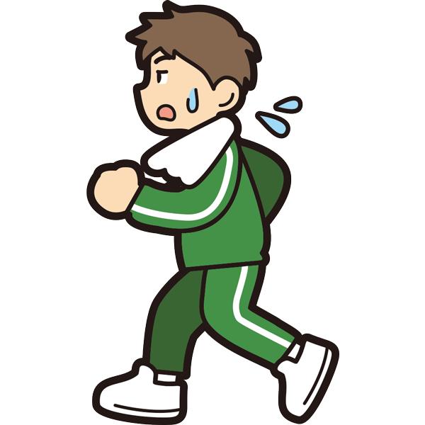 ランニングをする男の子(疲労)