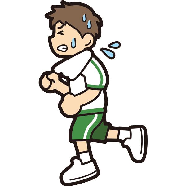 ランニングをする男の子(必死)(半袖)