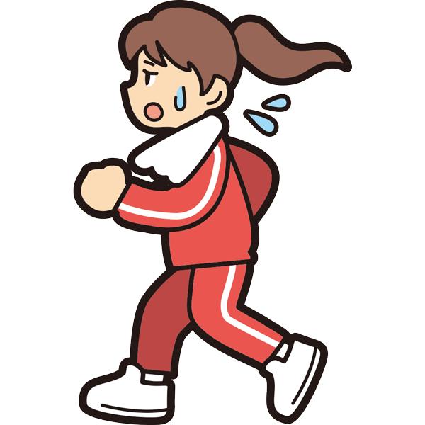 ランニングをする女の子(疲労)