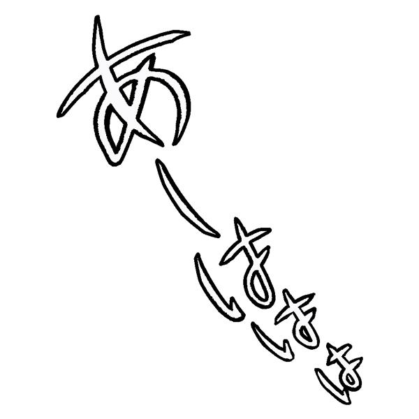 擬音語 オノマトペ あーははは(フチ文字)