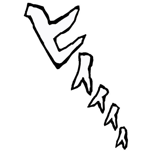 擬音語 オノマトペ ヒイィィィ(フチ文字)