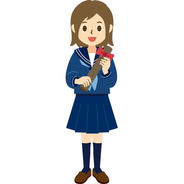 卒業 卒業証書 女子学生 セーラー服