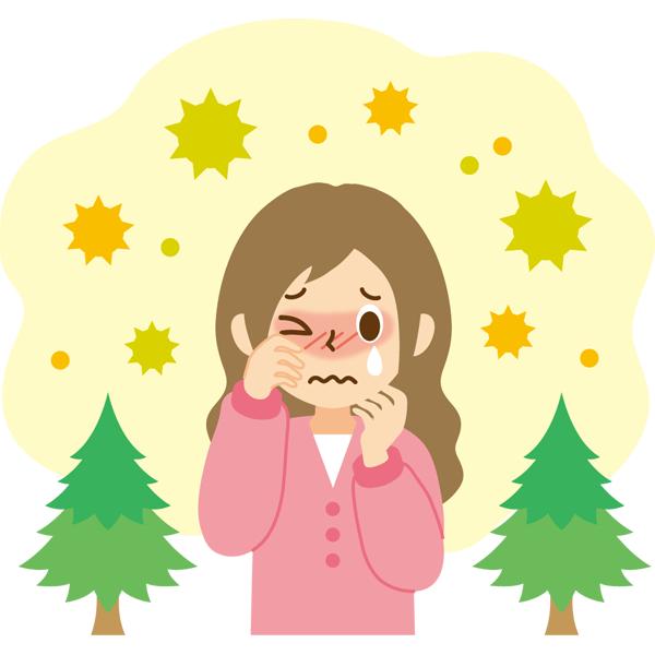 花粉症 女性 涙