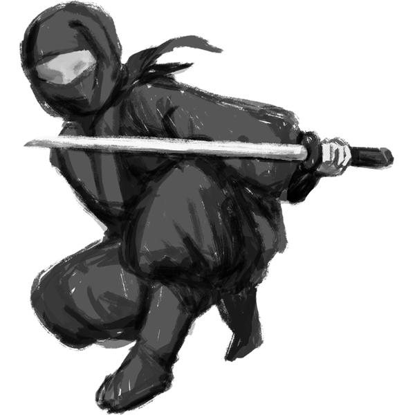 忍者 NINJA 刀(塗りあり)
