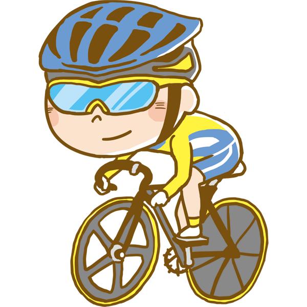 競技 自転車競技をする男性