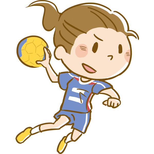 競技 ハンドボールをする女性
