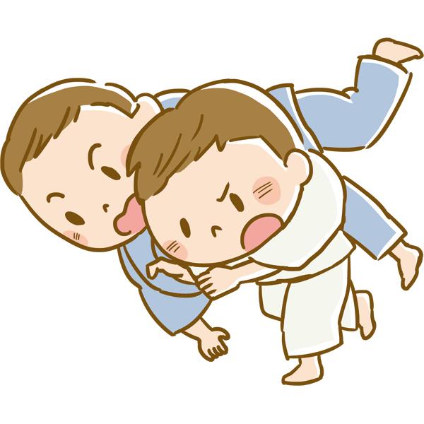 競技 柔道をする男性