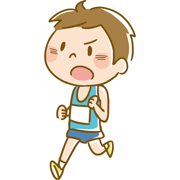 競技 マラソンをする男性