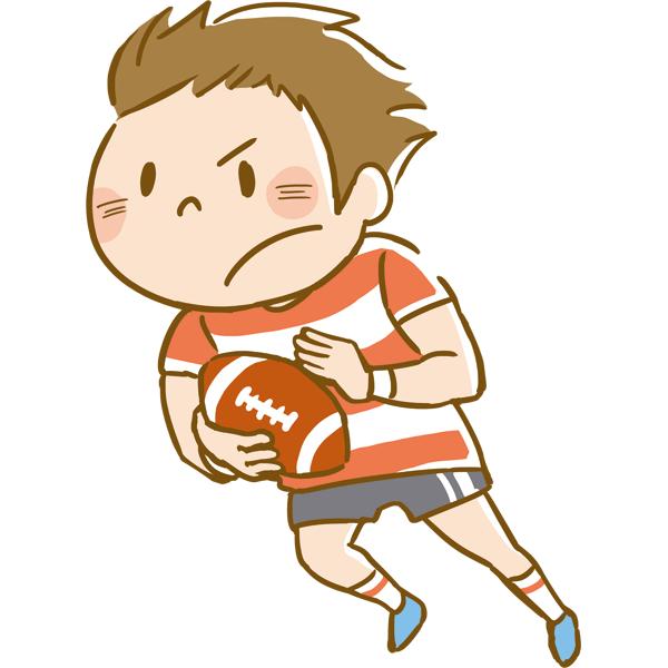 競技 ラグビーをする男性