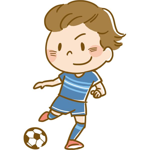 競技 サッカーをする男性