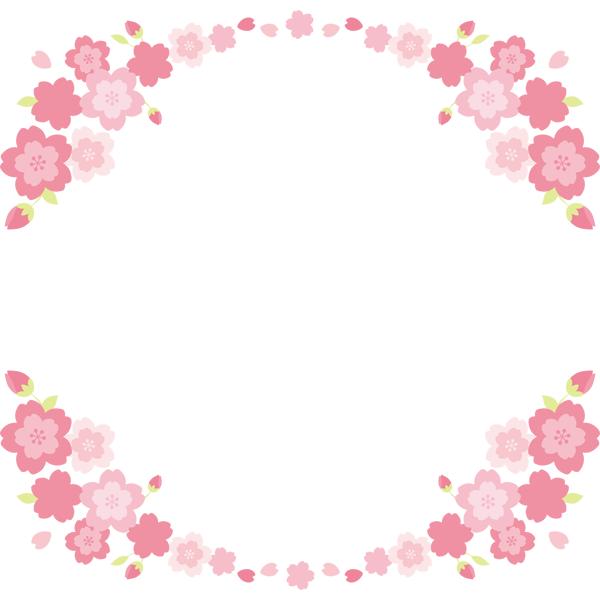 桜の飾り罫 上下