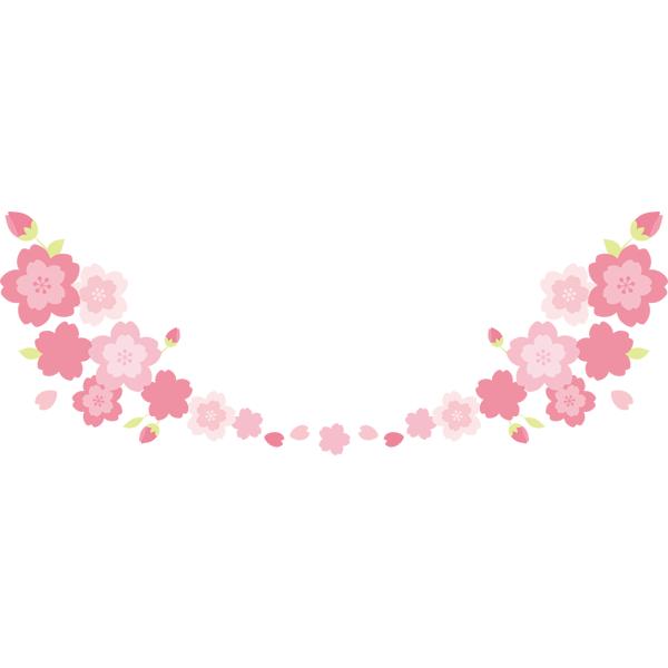 桜の飾り罫 下のみ