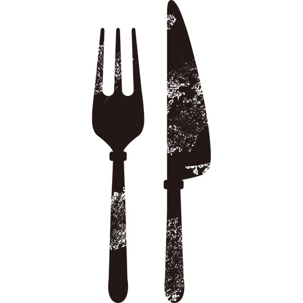 グランジ素材 フォーク&ナイフ