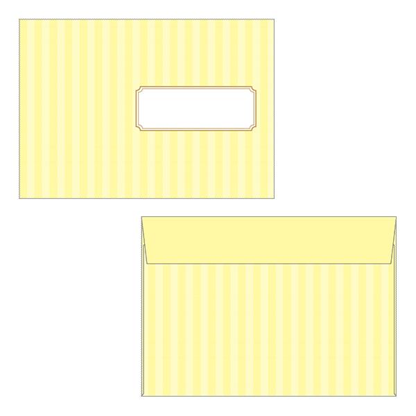 レター 封筒 ストライプ