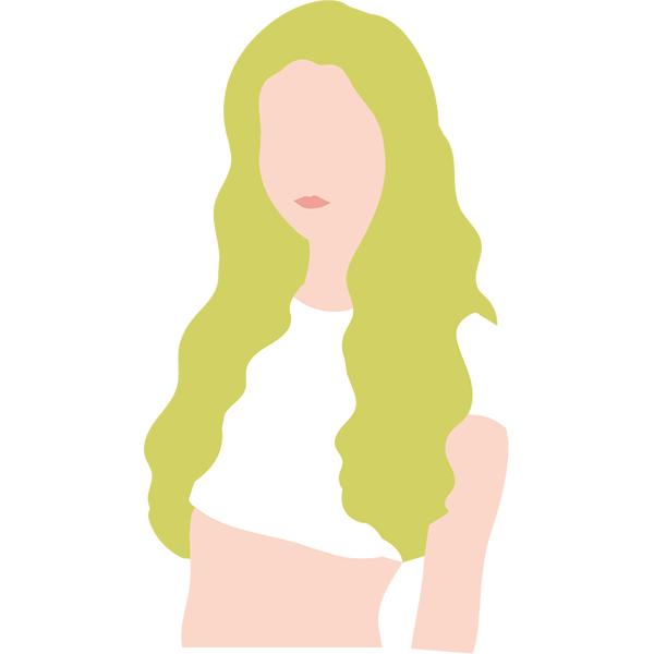 シンプルイラスト チューブトップの女性(カラーのみ)