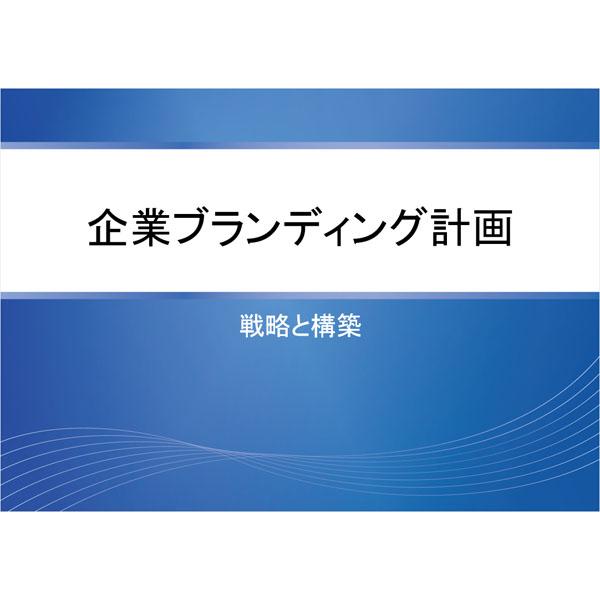 プレゼンテーション(企画書・ブルー)