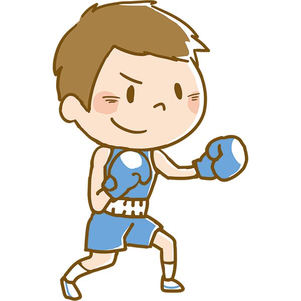 競技 ボクシングをする男性