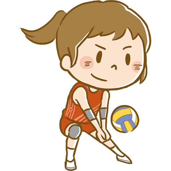 競技 バレーボールをする女性