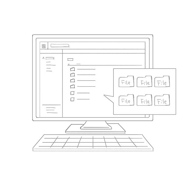 スケッチ画 PC ファイル管理画面