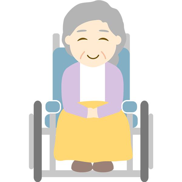 おばあさん 車椅子