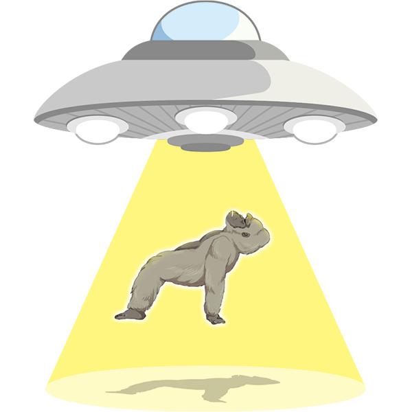 UFO 連れ去り ゴリラ
